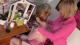 Gung-ho Old And Young Lesbian Clip Detach from The Uk Realize Wet - MatureNL