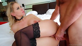 Fucking awesome bootyful milf Kenzie Taylor shows her gaped butt hole