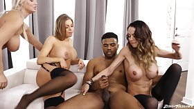 Cum loving babes McKenzie Lee and London River have contrive sex
