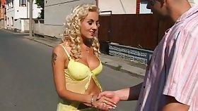 Explicit looking blonde Tereza is pickedup outdoors and brutishly analfucked