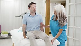 Conversation dropping adult nurse Suffuse Dangelo is fucking young patient
