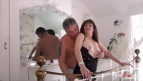 Mature ladies seducing and being seduced here provide some hard dear one