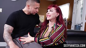 Porn sheet of mature redhead Morose Vanessa having crazy sex
