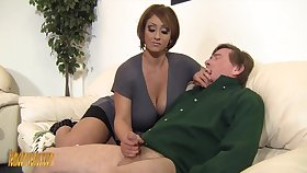 Old baffle gets casual and mature Kyle Stone gives him a handjob