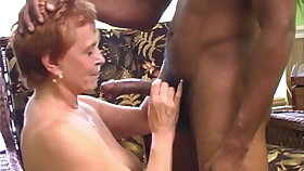 Interracial Gangbang with a Sweltering Granny
