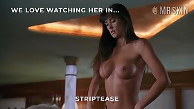 Demi Moore's striptease is something special and she's got some nice tits