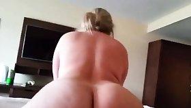 Big ass blonde riding